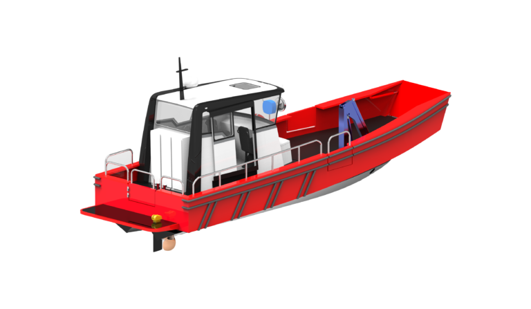 WB - 10,5 - WORKBOAT - AFT ISO VIEW