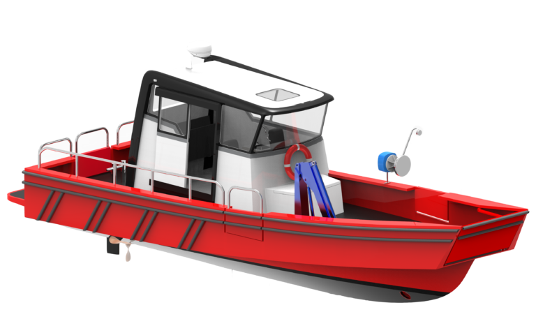 WB - 10,5 - WORKBOAT - FRONT ISO VIEW