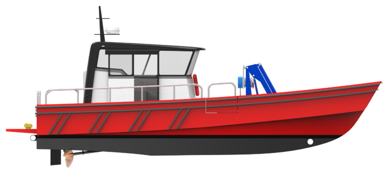 WB - 10,5 - WORKBOAT - STARBOARD SIDE VIEW